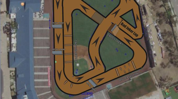 Lake Elsinore Diamond Stadium Track Map
