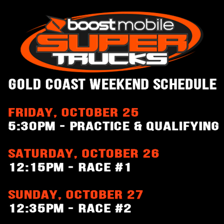 Gold Coast Weekend Schedule